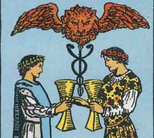 2 of Cups Tarot Card Meaning