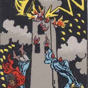Blasted Tower Tarot Card Meaning