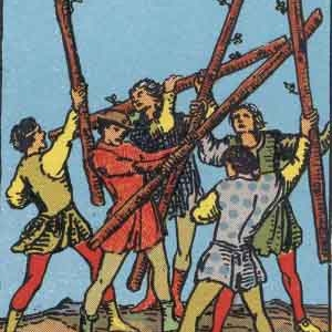 5 of Wands Tarot Card Meaning